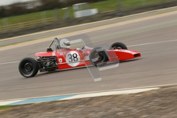 © Octane Photographic Ltd. HSCC Donington Park 17th March 2012. Historic Formula Ford Championship. Pertti Kiiveri - Kvantti Mk1. Digital ref : 0240cb1d6783