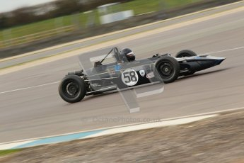 © Octane Photographic Ltd. HSCC Donington Park 17th March 2012. Historic Formula Ford Championship. John Crowell - Elden Mk8. Digital ref : 0240cb1d6808