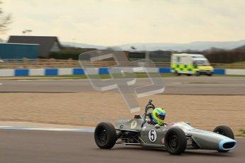 © Octane Photographic Ltd. HSCC Donington Park 17th March 2012. Historic Formula Ford Championship. John Farrell - Merlyn Mk.IIA. Digital ref : 0240lw7d4731