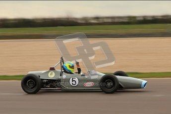 © Octane Photographic Ltd. HSCC Donington Park 17th March 2012. Historic Formula Ford Championship. John Farrell - Merlyn Mk.IIA. Digital ref : 0240lw7d4918