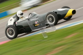 © Octane Photographic Ltd. HSCC Donington Park 17th March 2012. Historic Formula Junior Championship (Front engine). Jack Woodhouse - Elva 100. Digital ref : 0241cb1d6980