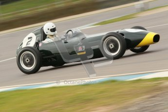 © Octane Photographic Ltd. HSCC Donington Park 17th March 2012. Historic Formula Junior Championship (Front engine). Jack Woodhouse - Elva 100. Digital ref : 0241cb1d7029