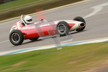 © Octane Photographic Ltd. HSCC Donington Park 17th March 2012. Historic Formula Junior Championship (Front engine). Simon Goodliff - Lola Mk2 . Digital ref : 0241cb1d7033