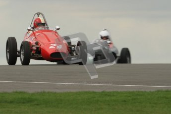 © Octane Photographic Ltd. HSCC Donington Park 17th March 2012. Historic Formula Junior Championship (Front engine). Mike Waller - PM Poggi. Digital ref : 0241cb7d3874