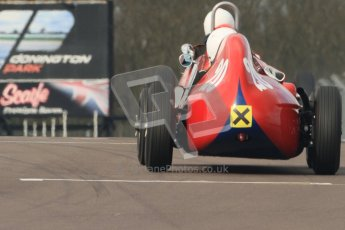 © Octane Photographic Ltd. HSCC Donington Park 17th March 2012. Historic Formula Junior Championship (Front engine). David Bishop - Elva 100. Digital ref : 0241cb7d3924