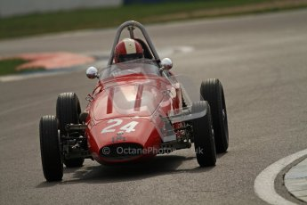 © Octane Photographic Ltd. HSCC Donington Park 17th March 2012. Historic Formula Junior Championship (Front engine). Mike Waller - PM Poggi. Digital ref : 0241cb7d4028