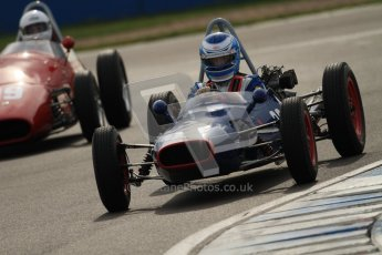 © Octane Photographic Ltd. HSCC Donington Park 17th March 2012. Historic Formula Junior Championship (Front engine). Wyn Lewis - Kieft FJ. Digital ref : 0241cb7d4071