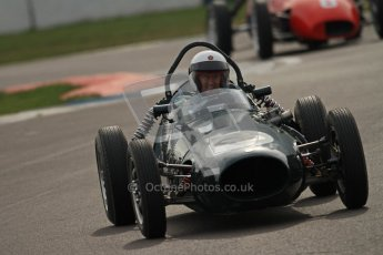 © Octane Photographic Ltd. HSCC Donington Park 17th March 2012. Historic Formula Junior Championship (Front engine). William Grimshaw - Moorland Mk1. Digital ref : 0241cb7d4125
