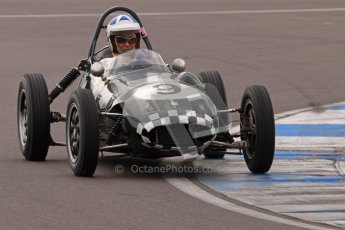 © Octane Photographic Ltd. HSCC Donington Park 17th March 2012. Historic Formula Junior Championship (Front engine). Stephen Barlow - BMC MK1. Digital ref : 0241lw7d5570