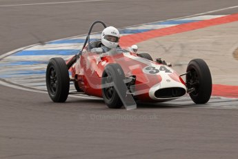 © Octane Photographic Ltd. HSCC Donington Park 17th March 2012. Historic Formula Junior Championship (Front engine). Richard Ellingworth - Gemini Mk2. Digital ref : 0241lw7d5661