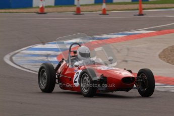 © Octane Photographic Ltd. HSCC Donington Park 17th March 2012. Historic Formula Junior Championship (Front engine). David Brand - BMC Mk1. Digital ref : 0241lw7d5723