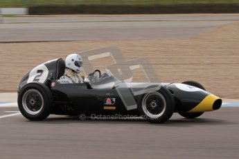 © Octane Photographic Ltd. HSCC Donington Park 17th March 2012. Historic Formula Junior Championship (Front engine). Jack Woodhouse - Elva 100. Digital ref : 0241lw7d6072