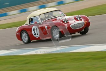 © Octane Photographic Ltd. HSCC Donington Park 17th March 2012. Historic Road Sports Championship. Linden Brand - BMC Mk1. Digital ref : 0242cb1d7262