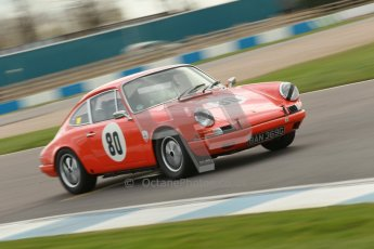 © Octane Photographic Ltd. HSCC Donington Park 17th March 2012. Historic Road Sports Championship. John Shaw - Porsche 911. Digital ref : 0242cb1d7296