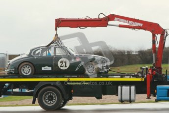 © Octane Photographic Ltd. HSCC Donington Park 18th March 2012. Historic Touring car Championship (over 1600cc). Graeme Dodd - Jaguar Mkii. Digital ref : 0249cb1d8554