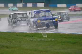 © Octane Photographic Ltd. HSCC Donington Park 18th May 2012. Historic Touring car Championship (up to 1600cc). David Heale - Hillman Imp. Digital ref : 0246cb1d7952