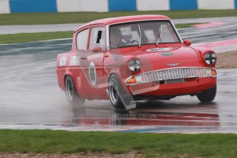 © Octane Photographic Ltd. HSCC Donington Park 18th May 2012. Historic Touring car Championship (up to 1600cc). Andrew Law - Ford Anglia 105E. Digital ref : 0246cb1d7995