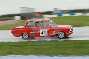 © Octane Photographic Ltd. HSCC Donington Park 18th May 2012. Historic Touring car Championship (up to 1600cc). Robert Rook - Ford Cortina. Digital ref : 0246cb1d8013