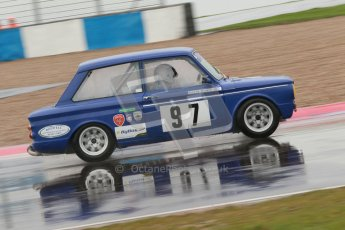 © Octane Photographic Ltd. HSCC Donington Park 18th May 2012. Historic Touring car Championship (up to 1600cc). Mark Jones - Ford Lotus Cortina. Digital ref : 0246cb1d8144