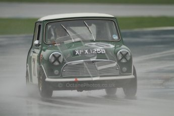© Octane Photographic Ltd. HSCC Donington Park 18th May 2012. Historic Touring car Championship (up to 1600cc). Marc Earnshaw - Austin Mini Cooper S. Digital ref : 0246cb7d5477