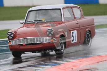 © Octane Photographic Ltd. HSCC Donington Park 18th May 2012. Historic Touring car Championship (up to 1600cc). James Claridge - Ford Anglia. Digital ref : 0246cb7d5492