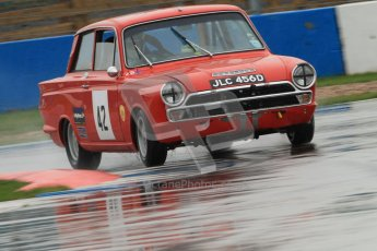 © Octane Photographic Ltd. HSCC Donington Park 18th May 2012. Historic Touring car Championship (up to 1600cc). Robert Rook - Ford Cortina. Digital ref : 0246cb7d5622