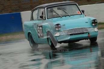 © Octane Photographic Ltd. HSCC Donington Park 18th May 2012. Historic Touring car Championship (up to 1600cc). Steve Read - Ford Anglia105E. Digital ref : 0246cb7d5638