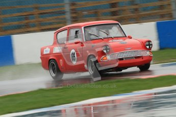 © Octane Photographic Ltd. HSCC Donington Park 18th May 2012. Historic Touring car Championship (up to 1600cc). Andrew Law - Ford Anglia 105E. Digital ref : 0246cb7d5646