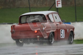 © Octane Photographic Ltd. HSCC Donington Park 18th May 2012. Historic Touring car Championship (up to 1600cc). James Claridge - Ford Anglia. Digital ref : 0246cb7d5666