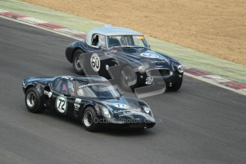 © 2012 Octane Photographic Ltd. HSCC Historic Super Prix - Brands Hatch - 30th June 2012. HSCC - Guards Trophy - Qualifying. Colman/Colman - Chevron B8 and Hayden - Austin Healy 3000 Mk.II. Digital Ref: 0379lw1d0296