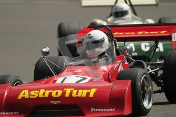 © 2012 Octane Photographic Ltd. HSCC Historic Super Prix - Brands Hatch - 30th June 2012. HSCC Grandstand Motor Sport Historic Formula 2 - Qualifying. Mike Bletsoe-Brown - Chevron B27. Digital Ref: 0377lw1d9184