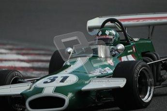 © 2012 Octane Photographic Ltd. HSCC Historic Super Prix - Brands Hatch - 30th June 2012. HSCC Grandstand Motor Sport Historic Formula 2 - Qualifying. Luciano Arnold - Brabham BT36. Digital Ref: 0377lw1d9417