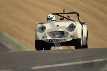 © 2012 Octane Photographic Ltd. HSCC Historic Super Prix - Brands Hatch - 1st July 2012. HSCC - Historic RoadSports - Qualifying. Richard Owen - Triumph TR2. Digital Ref: 0387lw1d0512