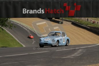 © 2012 Octane Photographic Ltd. HSCC Historic Super Prix - Brands Hatch - 1st July 2012. HSCC - Historic RoadSports - Qualifying. Tony Davis - Austin Healey Sprite. Digital Ref: 0387lw7d5203