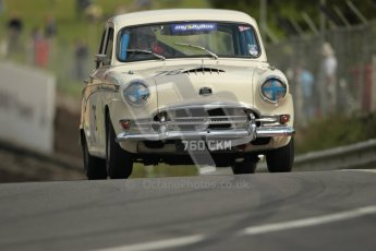 © 2012 Octane Photographic Ltd. HSCC Historic Super Prix - Brands Hatch - 1st July 2012. HSCC - Historic Touring Cars - Qualifying. Andrew Davenall -Austin A105. Digital Ref: 0384lw1d1110