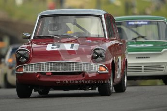 © 2012 Octane Photographic Ltd. HSCC Historic Super Prix - Brands Hatch - 1st July 2012. HSCC - Historic Touring Cars - Qualifying. Ian Claridge - Ford Anglia 105E. Digital Ref: 0384lw1d1123