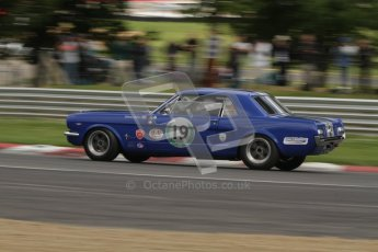 © 2012 Octane Photographic Ltd. HSCC Historic Super Prix - Brands Hatch - 1st July 2012. HSCC - Historic Touring Cars - Qualifying. Simon Miller - Ford Mustang. Digital Ref: 0384lw7d5403