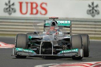 © 2012 Octane Photographic Ltd. Hungarian GP Hungaroring - Sunday 29th July 2012 - F1 Race. Mercedes W03 - Michael Schumacher. Digital Ref :