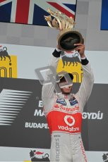 © 2012 Octane Photographic Ltd. Hungarian GP Hungaroring - Sunday 29th July 2012 - F1 Podium. Lewis Hamilton - Race winner. Digital Ref :