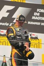© 2012 Octane Photographic Ltd. Hungarian GP Hungaroring - Sunday 29th July 2012 - F1 Podium. Lewis Hamilton - Kimi Raikkonen, 2nd checks the time. Digital Ref :