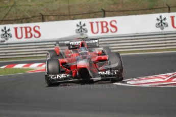 © 2012 Octane Photographic Ltd. Hungarian GP Hungaroring - Sunday 29th July 2012 - F1 Race. Marussia MR01 - Charles Pic and Timo Glock. Digital Ref :
