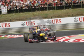 © 2012 Octane Photographic Ltd. Hungarian GP Hungaroring - Sunday 29th July 2012 - F1 Race. Red Bull RB8 - Sebastian Vettel and Ferrari F2012 - Fernando Alonso. Digital Ref :