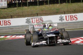 © 2012 Octane Photographic Ltd. Hungarian GP Hungaroring - Sunday 29th July 2012 - F1 Race. Williams FW34 - Bruno Senna and Ferrari F2012 - Felipe Massa. Digital Ref :