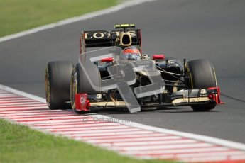 © 2012 Octane Photographic Ltd. Hungarian GP Hungaroring - Sunday 29th July 2012 - F1 Race. Lotus E20 - Romain Grosjean. Digital Ref :
