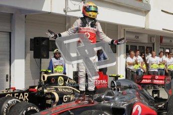 © 2012 Octane Photographic Ltd. Hungarian GP Hungaroring - Sunday 29th July 2012 - F1 Race winner. McLaren MP4/27 - Lewis Hamilton. Digital Ref :