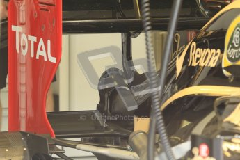 © 2012 Octane Photographic Ltd. Hungarian GP Hungaroring - Friday 27th July 2012 - F1 Practice 1. Lotus E20 DDRS system before removal - Kimi Raikkonen. Digital Ref :