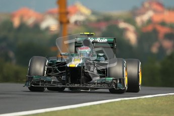 © 2012 Octane Photographic Ltd. Hungarian GP Hungaroring - Friday 27th July 2012. Caterham CT01 - Vitaly Petrov. Digital Ref : 0425lw1d4432
