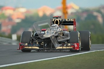 © 2012 Octane Photographic Ltd. Hungarian GP Hungaroring - Friday 27th July 2012 - F1 Practice 1. Lotus E20 - Kimi Raikkonen. Digital Ref : 0425lw1d4622