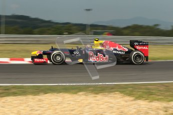 © 2012 Octane Photographic Ltd. Hungarian GP Hungaroring - Friday 27th July 2012 - F1 Practice 1. Red Bull RB8 - Mark Webber. Digital Ref : 0425lw1d4772