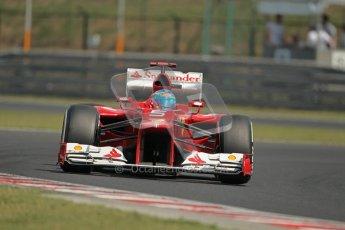 © 2012 Octane Photographic Ltd. Hungarian GP Hungaroring - Saturday 28th July 2012 - F1 Practice 3. Ferrari F2012 - Fernando Alonso. Digital Ref : 0429lw1d6731